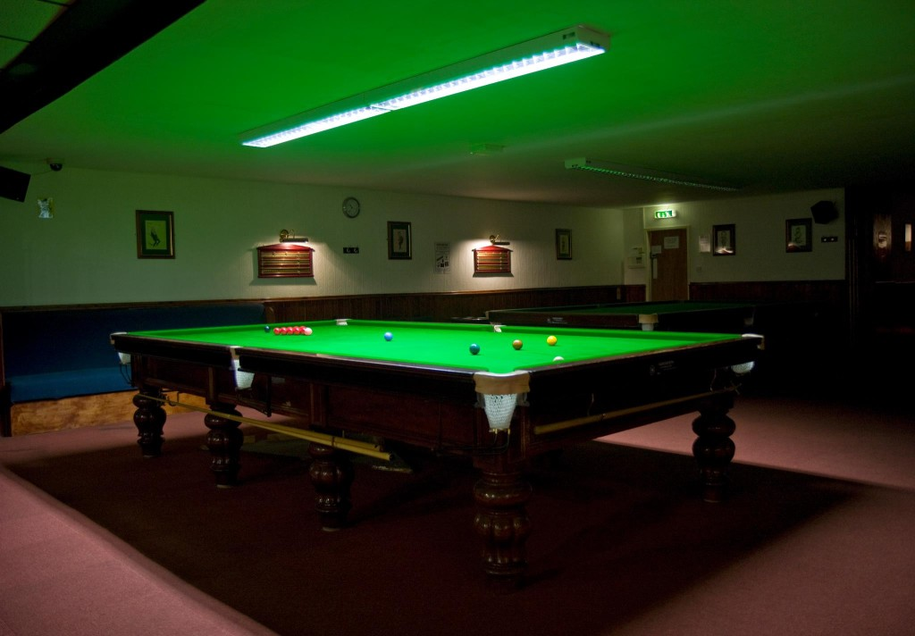 More Pro Lighting fitted recover full size snooker table  : Cue club match table1 from gclbilliards.com size 1024 x 712 jpeg 102kB